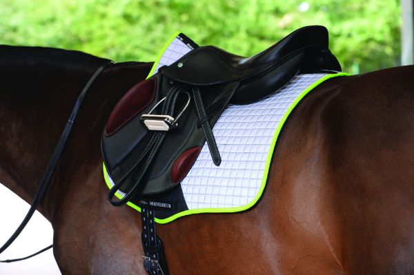 Picture of Weatherbeeta Reflective Prime All Purpose Saddle Pad Silver/Yellow Full