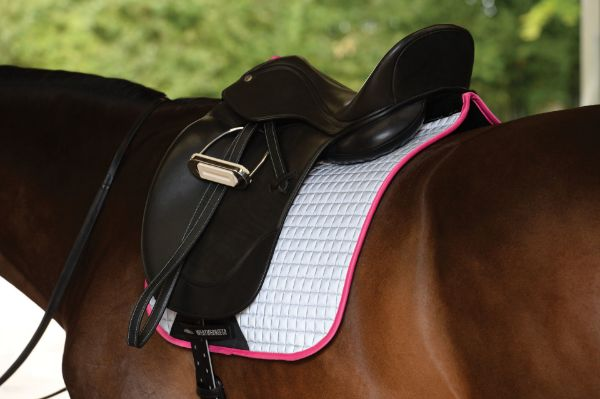Picture of Weatherbeeta Reflective Prime Dressage Saddle Pad Silver/Pink Full