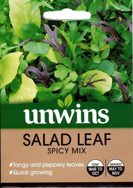 Picture of Unwins Salad Leaf Spicy Mix Seeds