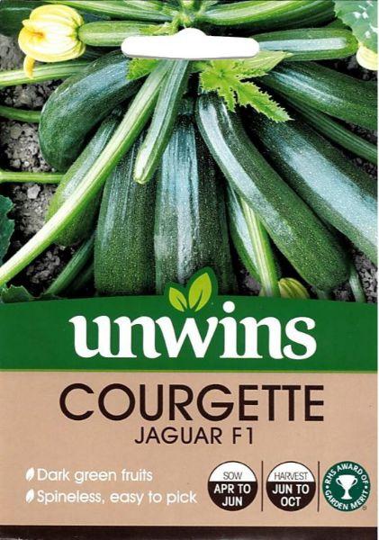 Picture of Unwins Courgette Jaguar F1 Seeds