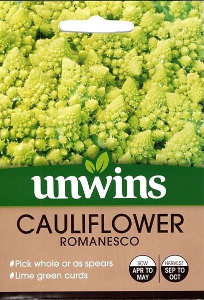 Picture of Unwins Cauliflower Romanesco Seeds