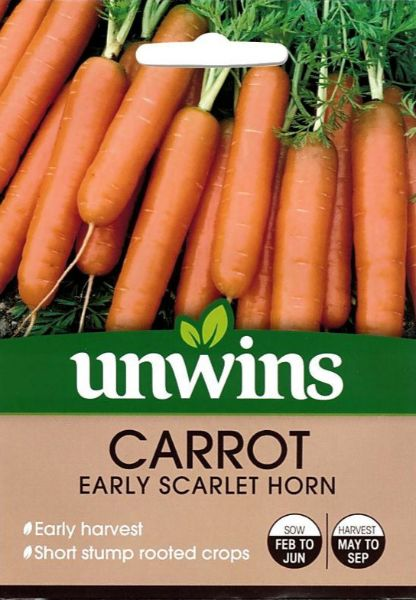 Picture of Unwins Carrot Early Scarlet Horn Seeds
