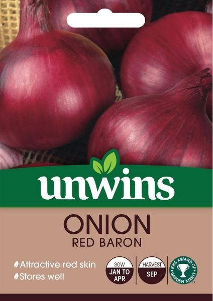 Picture of Unwins Onion Red Baron Seeds