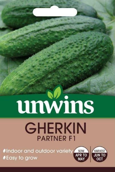 Picture of Unwins Gherkin Partner F1 Seeds