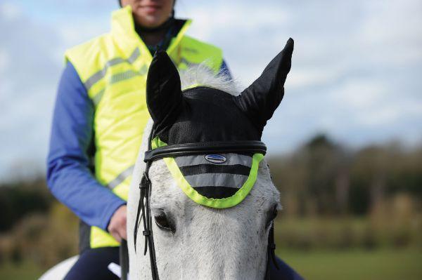 Picture of Weatherbeeta Reflective Earbonnet Yellow Pony