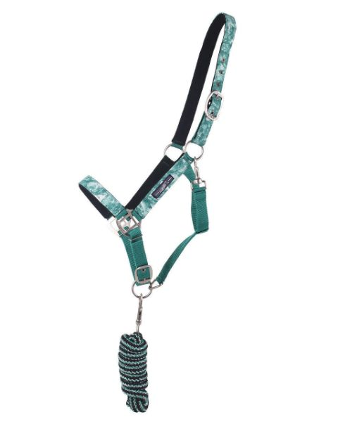 Picture of QHP Headcollar Set With Turnout Collection Marble