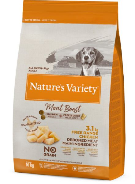 Picture of Natures Variety Dog - Meat Boost Free Range Chicken 10kg