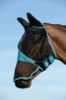 Picture of Weatherbeeta Comfitec Fine Mesh Mask With Ears & Nose Black/Turquoise