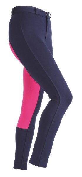 Picture of Shires Wessex Two Tone Jodhpurs Navy/Pink