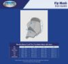 Picture of Weatherbeeta Comfitec Fine Mesh Mask With Nose Navy/Turquoise