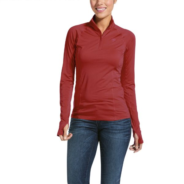 Picture of Ariat WMS Lowell 2.0 1/4 Zip Baselayer Marsala